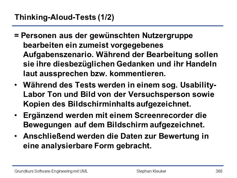 Thinking-Aloud-Tests (1/2)