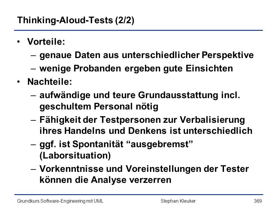 Thinking-Aloud-Tests (2/2)