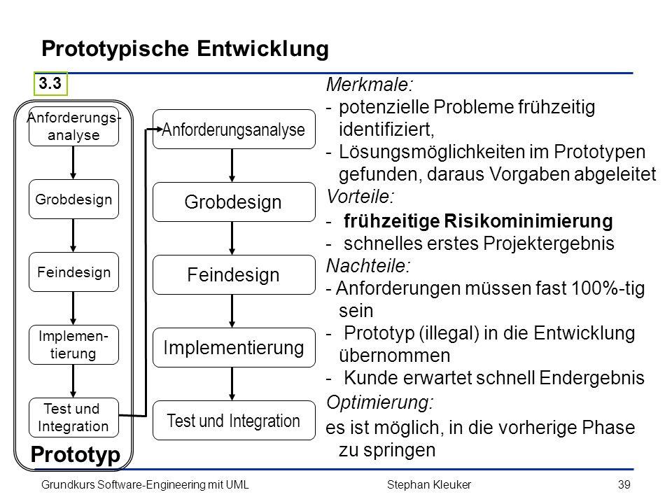 Prototypische Entwicklung