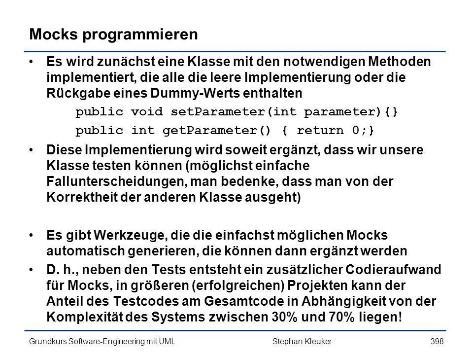Mocks programmieren