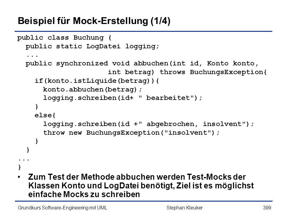 Beispiel für Mock-Erstellung (1/4)