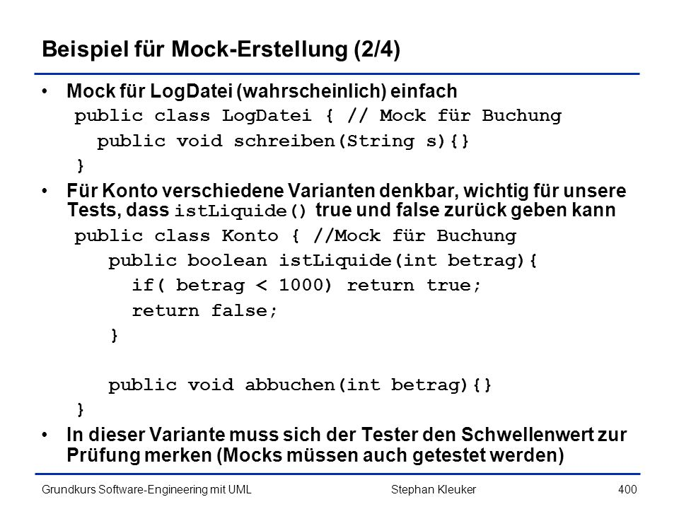 Beispiel für Mock-Erstellung (2/4)