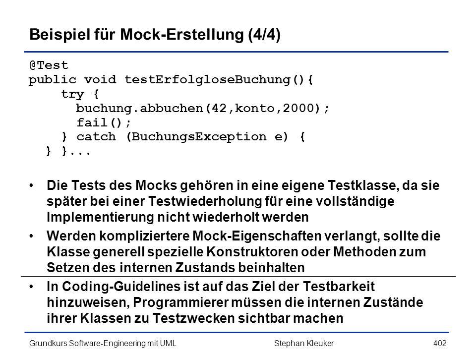Beispiel für Mock-Erstellung (4/4)