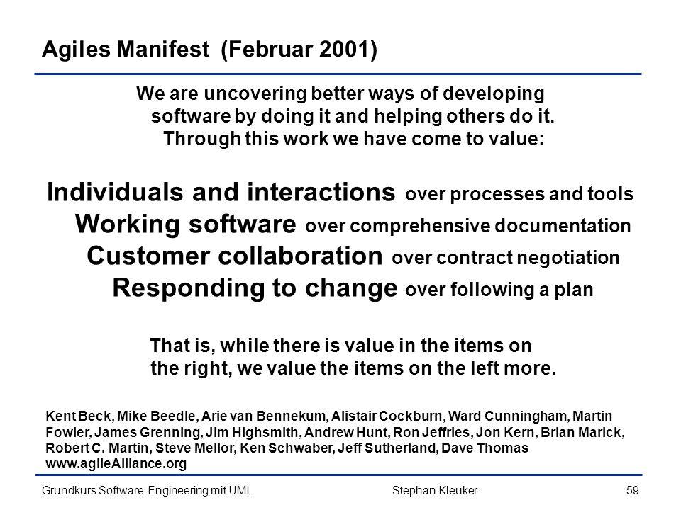 Agiles Manifest (Februar 2001)