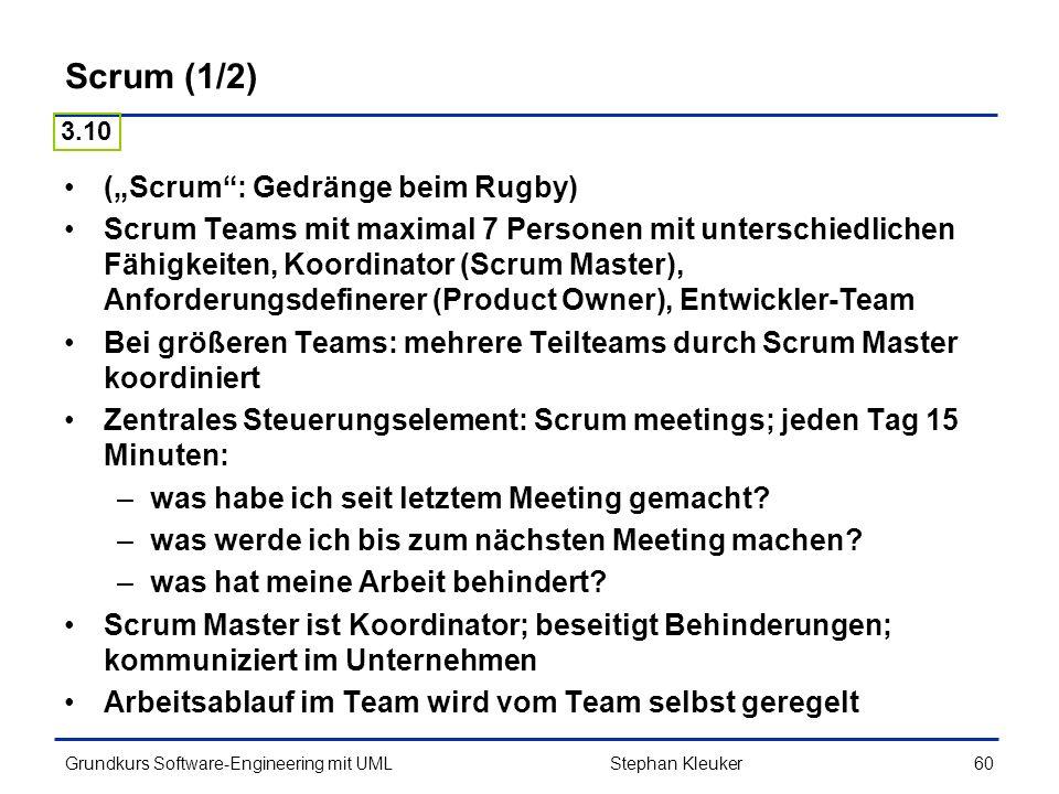 """Scrum (1/2) (""""Scrum : Gedränge beim Rugby)"""