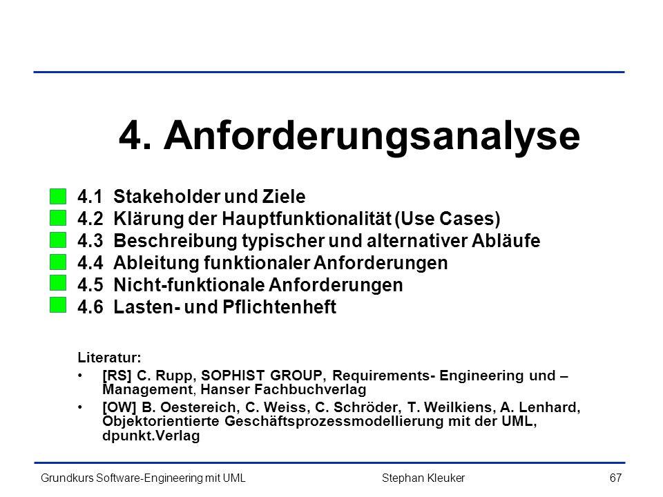 4. Anforderungsanalyse 4.1 Stakeholder und Ziele