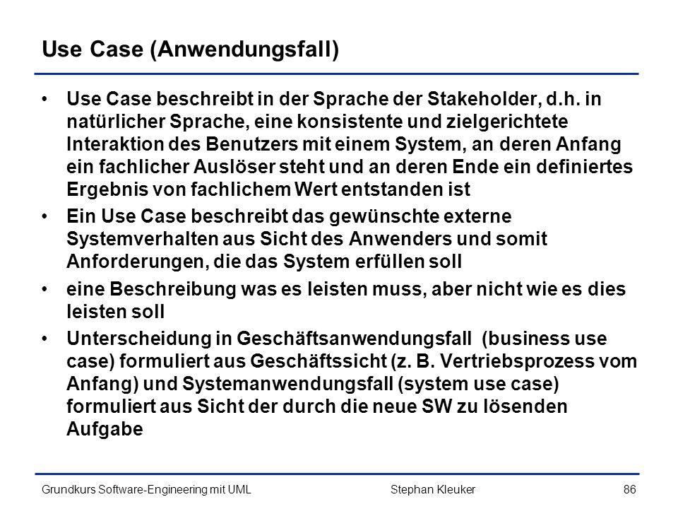 Use Case (Anwendungsfall)
