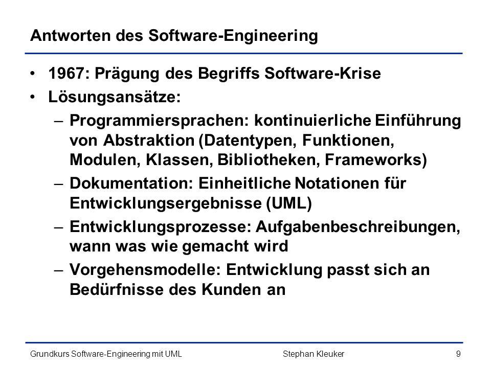Antworten des Software-Engineering