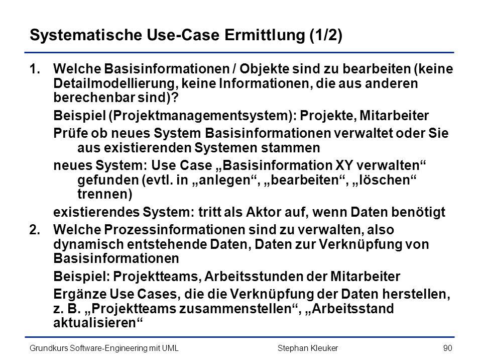 Systematische Use-Case Ermittlung (1/2)