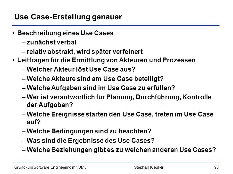 Use Case-Erstellung genauer