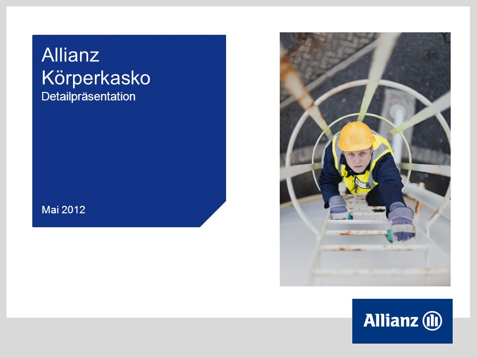 Allianz Körperkasko Detailpräsentation