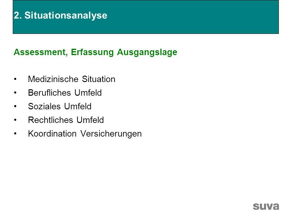 2. Situationsanalyse Assessment, Erfassung Ausgangslage