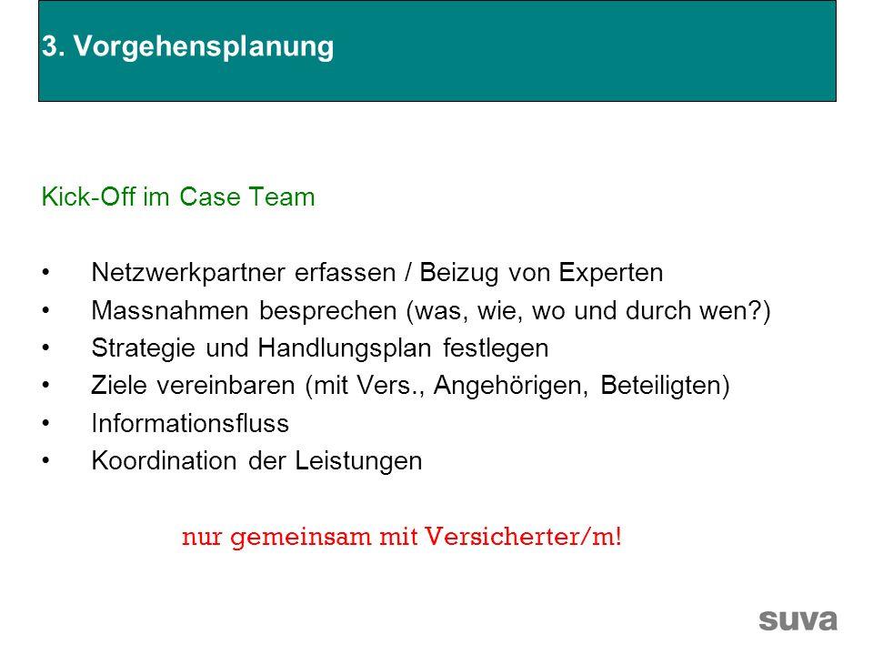 3. Vorgehensplanung Kick-Off im Case Team