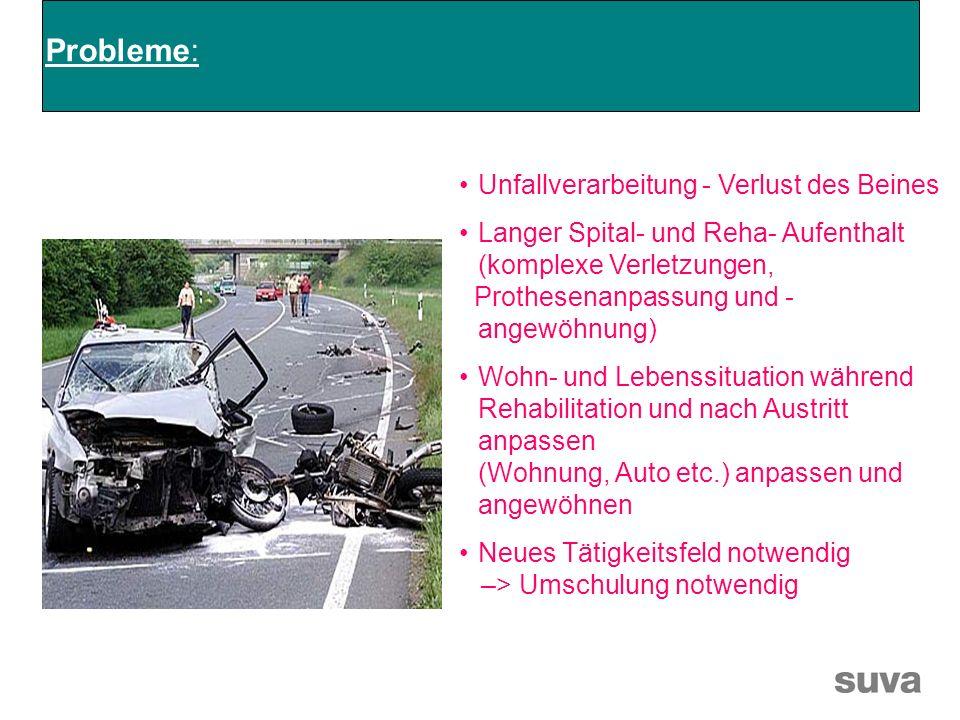 Probleme: Unfallverarbeitung - Verlust des Beines