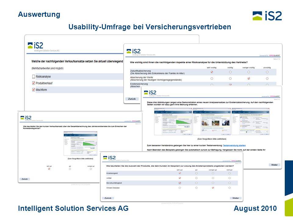 Usability-Umfrage bei Versicherungsvertrieben