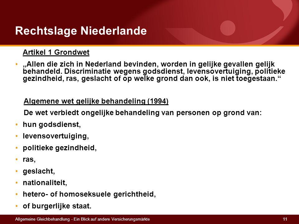 Rechtslage Niederlande