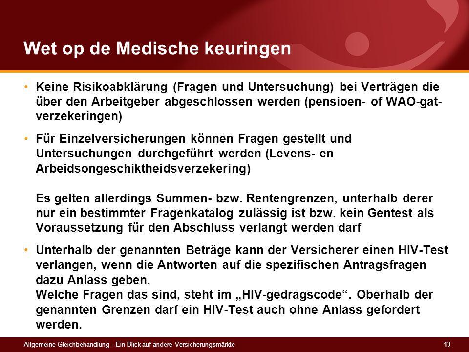 Wet op de Medische keuringen