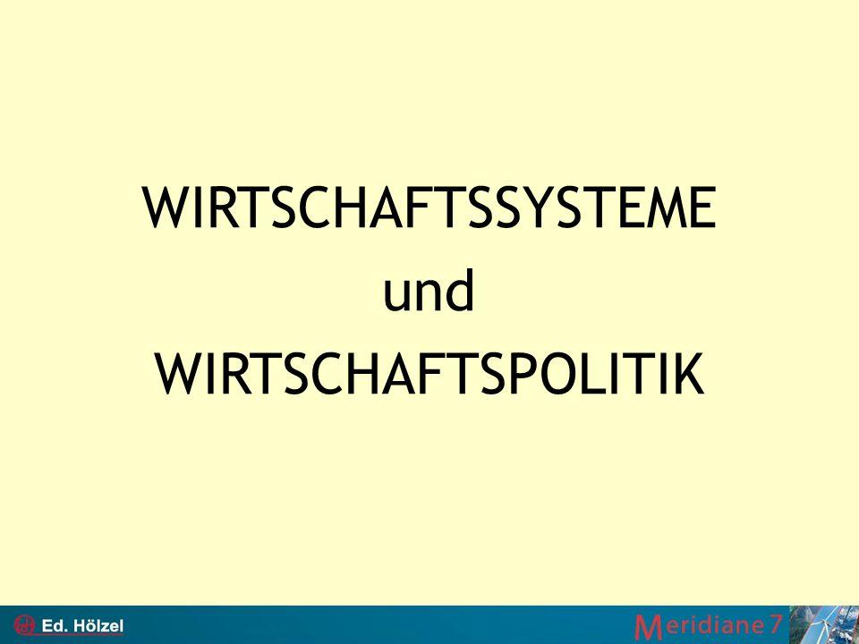 WIRTSCHAFTSSYSTEME und WIRTSCHAFTSPOLITIK