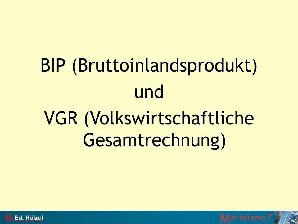 BIP (Bruttoinlandsprodukt) und