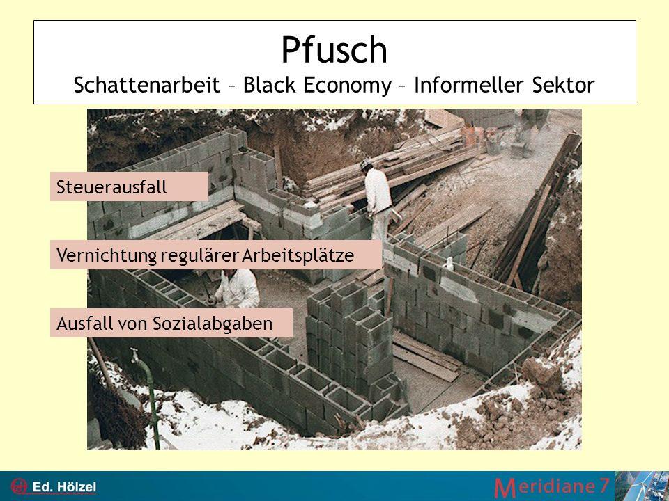 Pfusch Schattenarbeit – Black Economy – Informeller Sektor
