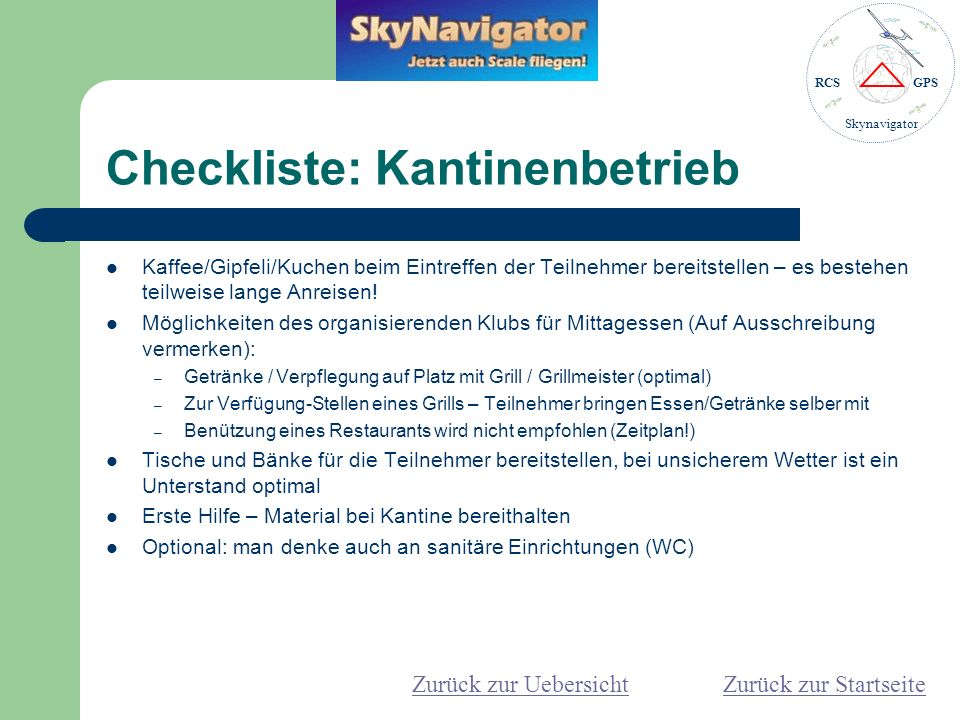 Checkliste: Kantinenbetrieb