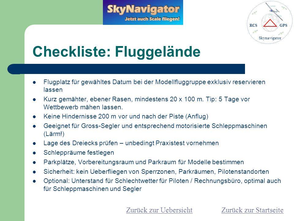 Checkliste: Fluggelände
