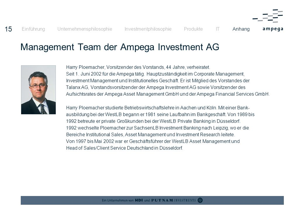 Management Team der Ampega Investment AG