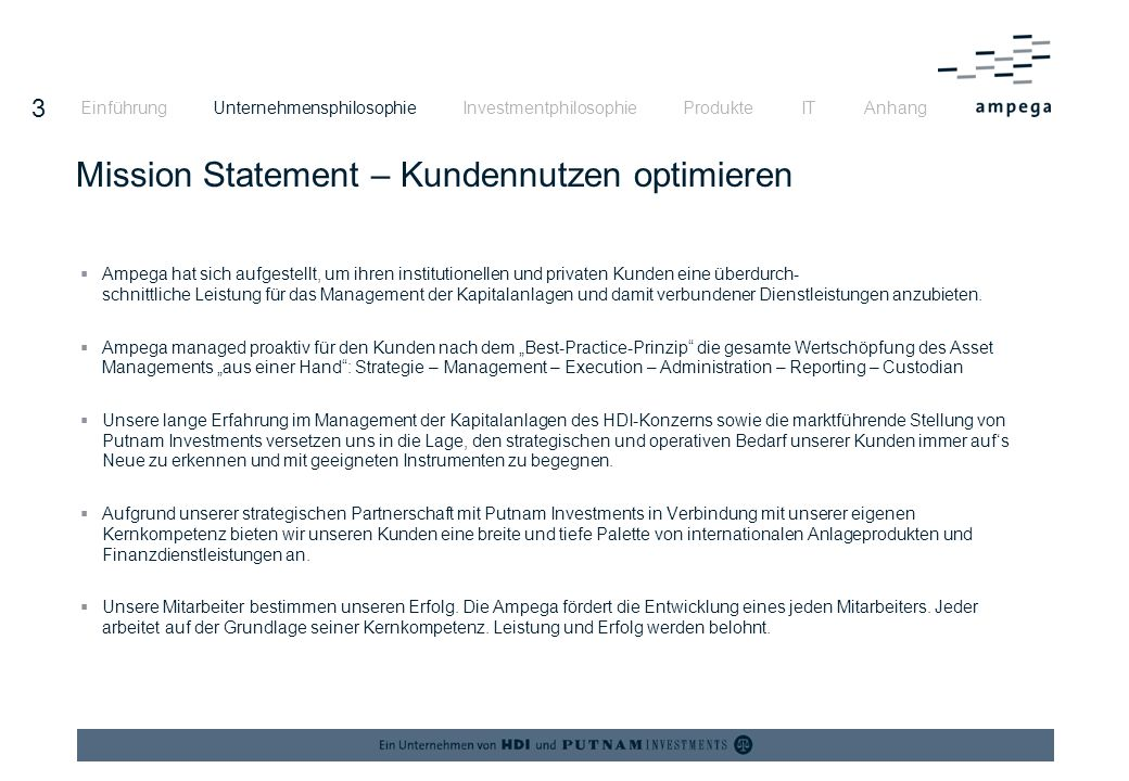 Mission Statement – Kundennutzen optimieren