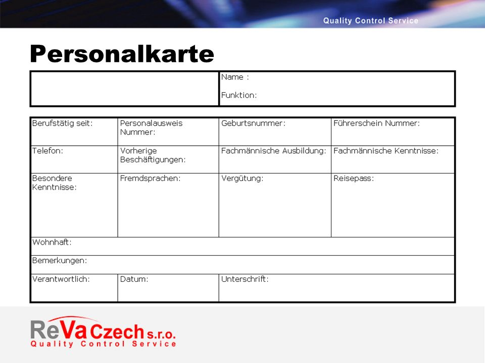 Personalkarte
