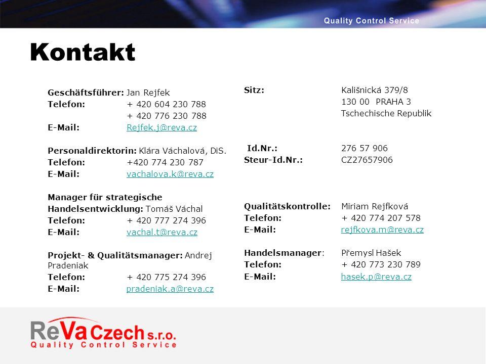 Kontakt Sitz: Kališnická 379/8