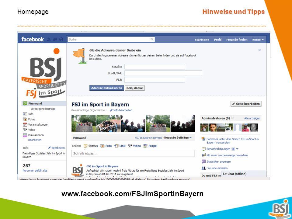 Homepage Hinweise und Tipps