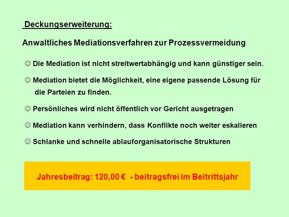 Jahresbeitrag: 120,00 € - beitragsfrei im Beitrittsjahr