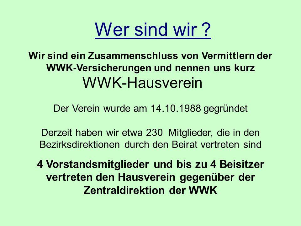 Wer sind wir WWK-Hausverein