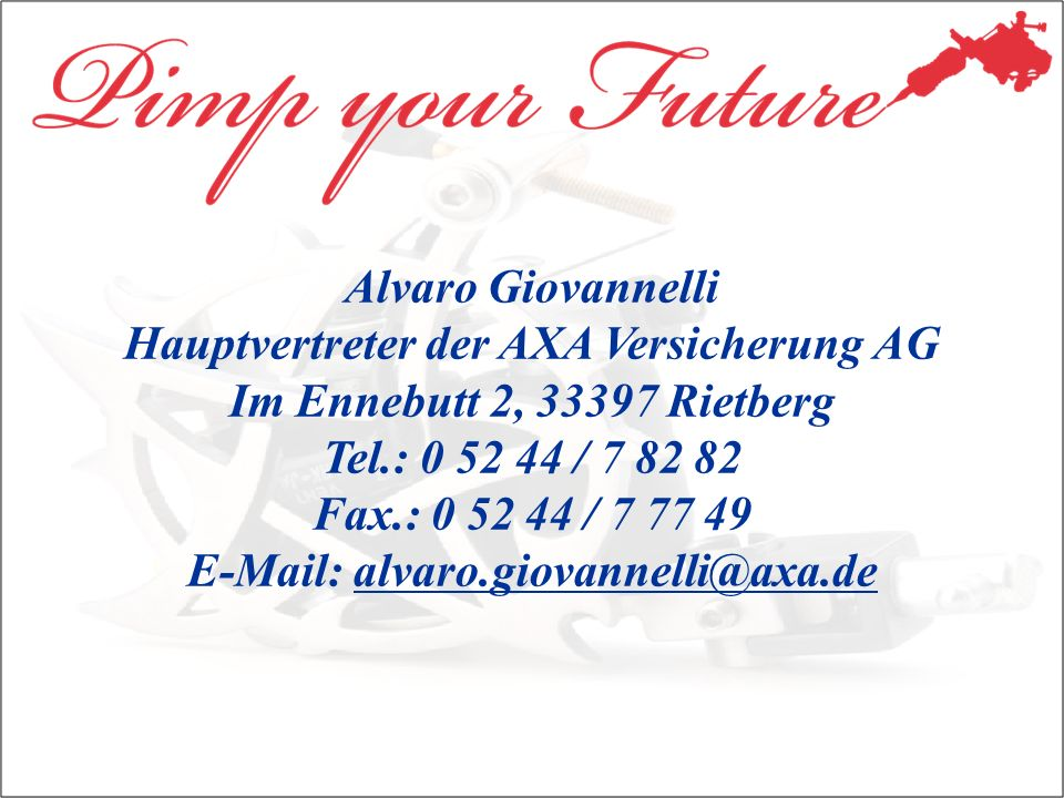 Hauptvertreter der AXA Versicherung AG Im Ennebutt 2, 33397 Rietberg