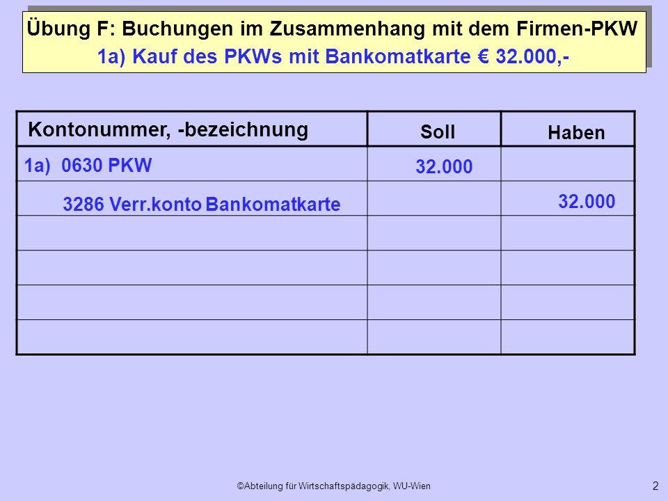 1a) Kauf des PKWs mit Bankomatkarte € 32.000,-