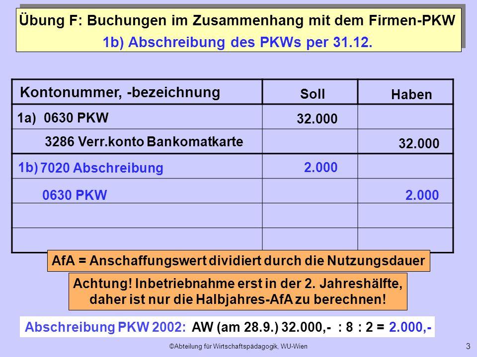 1b) Abschreibung des PKWs per 31.12.