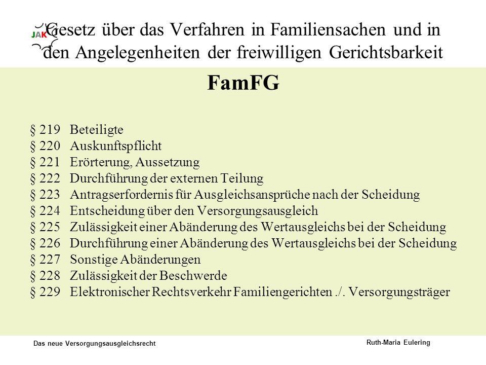 Gesetz über das Verfahren in Familiensachen und in den Angelegenheiten der freiwilligen Gerichtsbarkeit