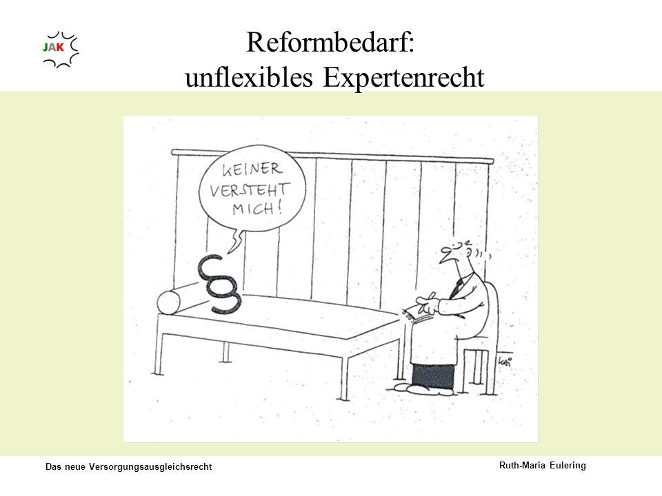 Reformbedarf: unflexibles Expertenrecht