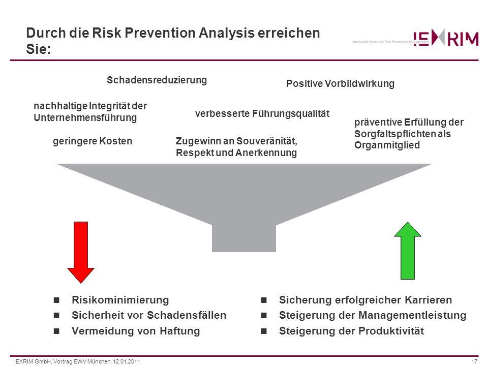 Durch die Risk Prevention Analysis erreichen Sie: