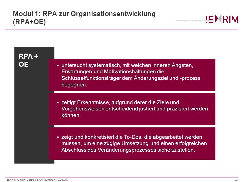 Modul 1: RPA zur Organisationsentwicklung (RPA+OE)