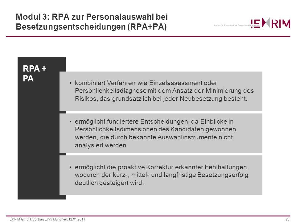 Modul 3: RPA zur Personalauswahl bei Besetzungsentscheidungen (RPA+PA)