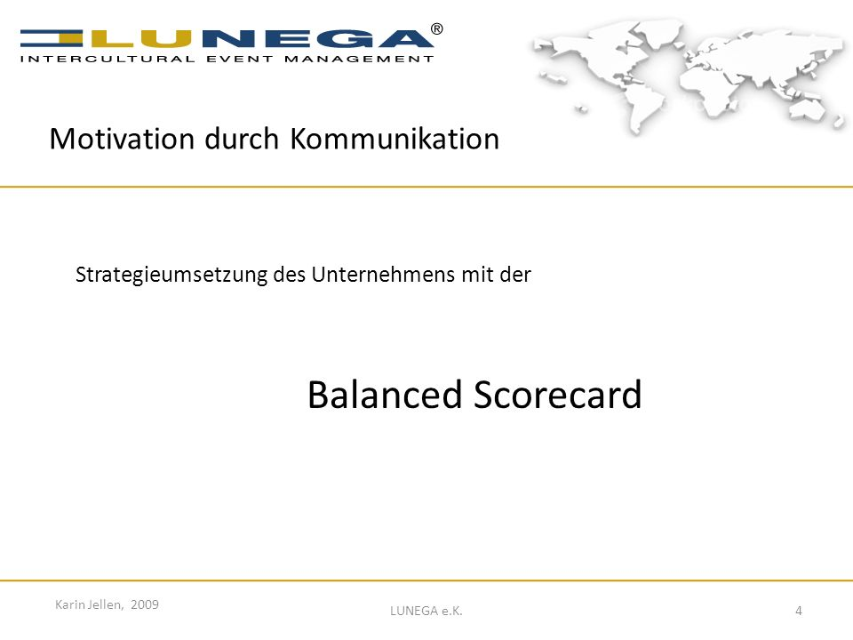 Balanced Scorecard Motivation durch Kommunikation