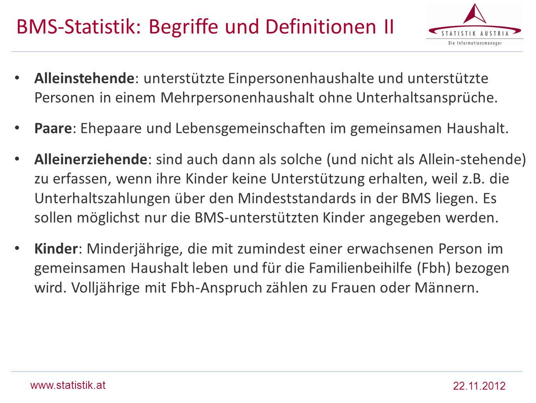 BMS-Statistik: Begriffe und Definitionen II