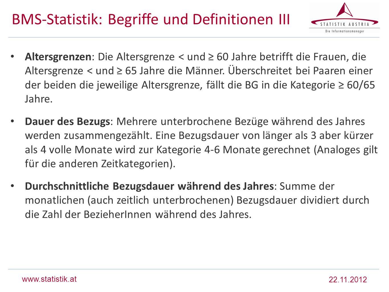 BMS-Statistik: Begriffe und Definitionen III