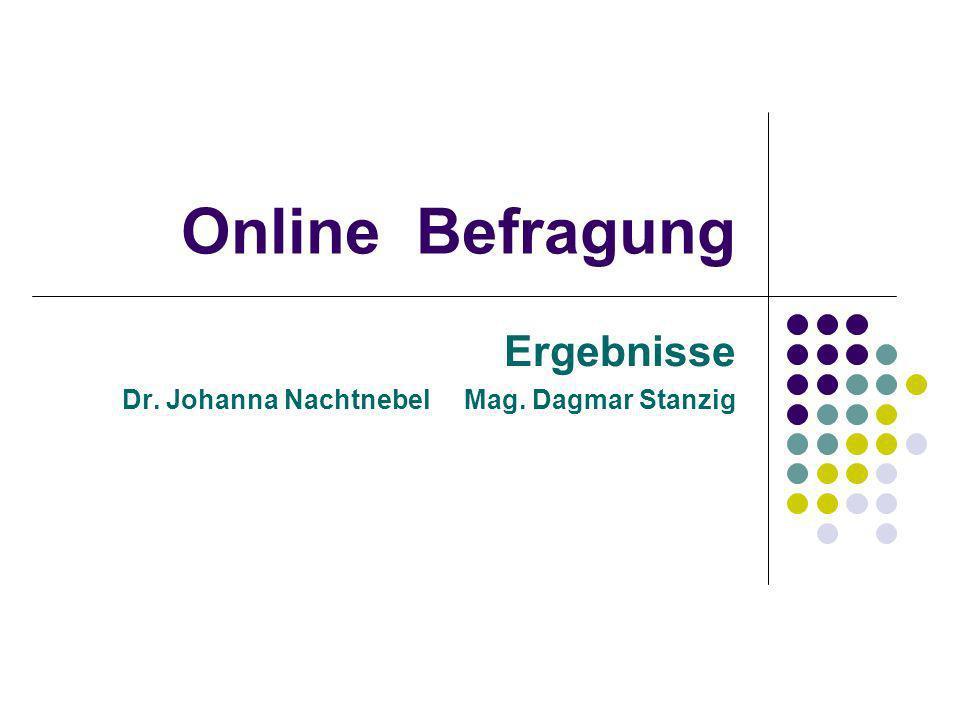 Ergebnisse Dr. Johanna Nachtnebel Mag. Dagmar Stanzig