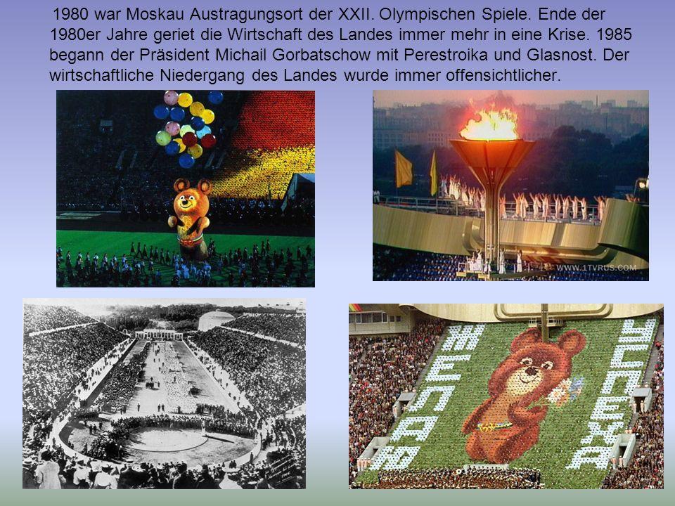 1980 war Moskau Austragungsort der XXII. Olympischen Spiele