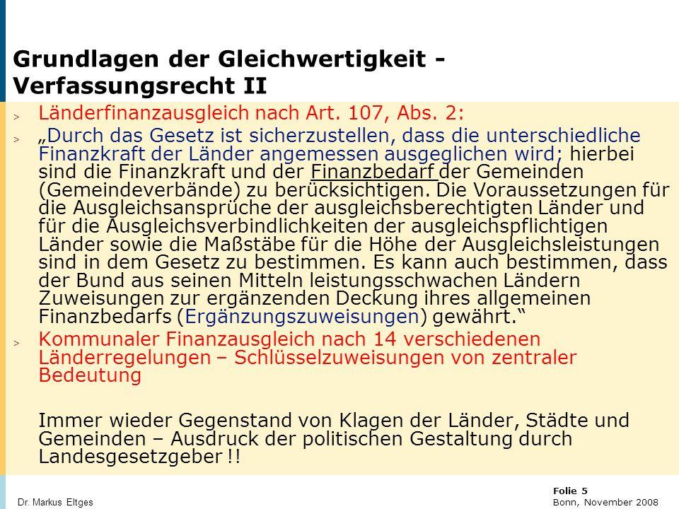 Grundlagen der Gleichwertigkeit - Verfassungsrecht II