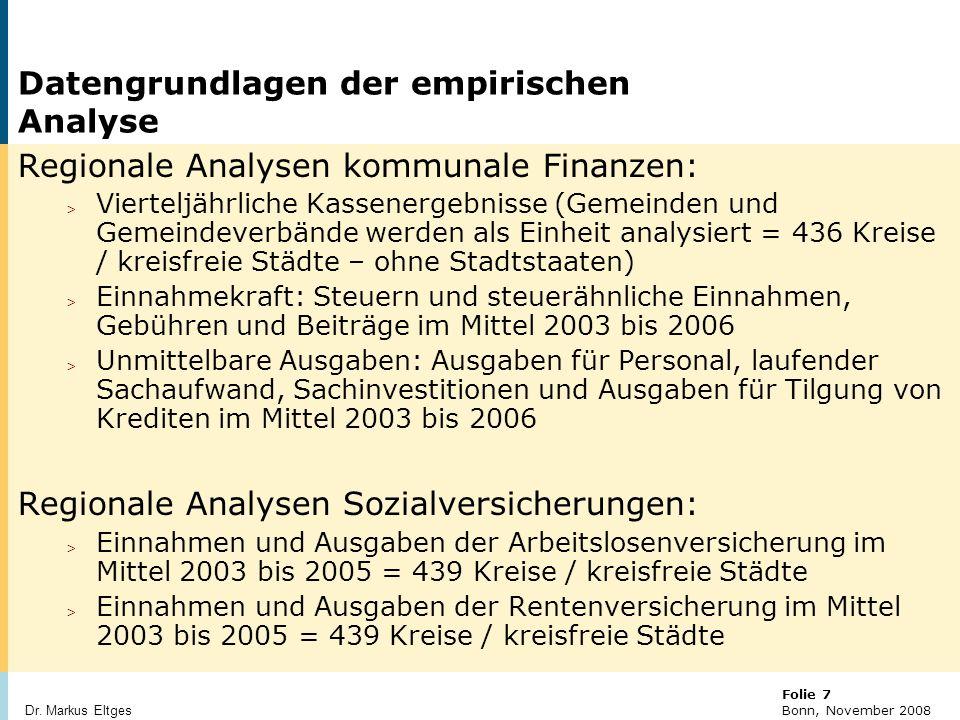 Datengrundlagen der empirischen Analyse