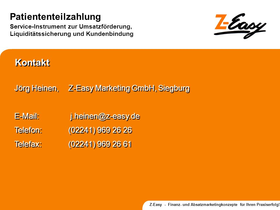 Kontakt Jörg Heinen, Z-Easy Marketing GmbH, Siegburg