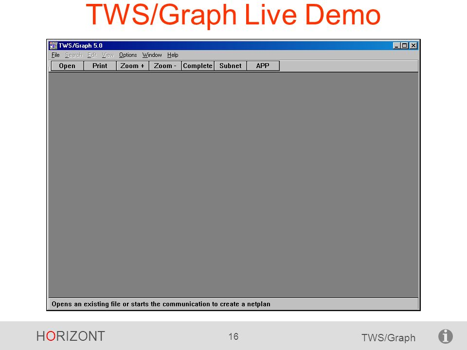 TWS/Graph Live Demo